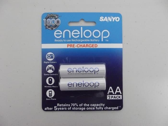 Baterai Batere Sanyo Enelop AA Rechargeable Bisa Di Cas Ulang PREMIUM