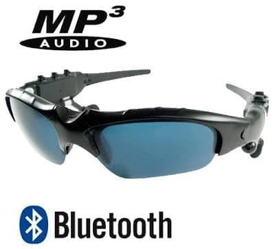 Kacamata Sport MP3 Bluetooth Sunglasses Stereo Music Player Sporty