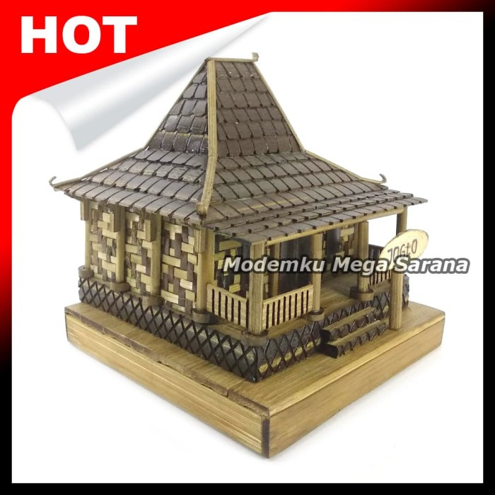 Jual Miniatur Rumah Adat Jawa Timur Joglo Dari Bambu 12x15x10 Kab Sleman Modemku Mega Sarana Tokopedia