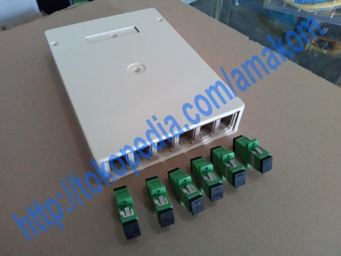 harga Roset optik ftth indoor optical outlet 6 core sc apc (hijau) adaptor Tokopedia.com