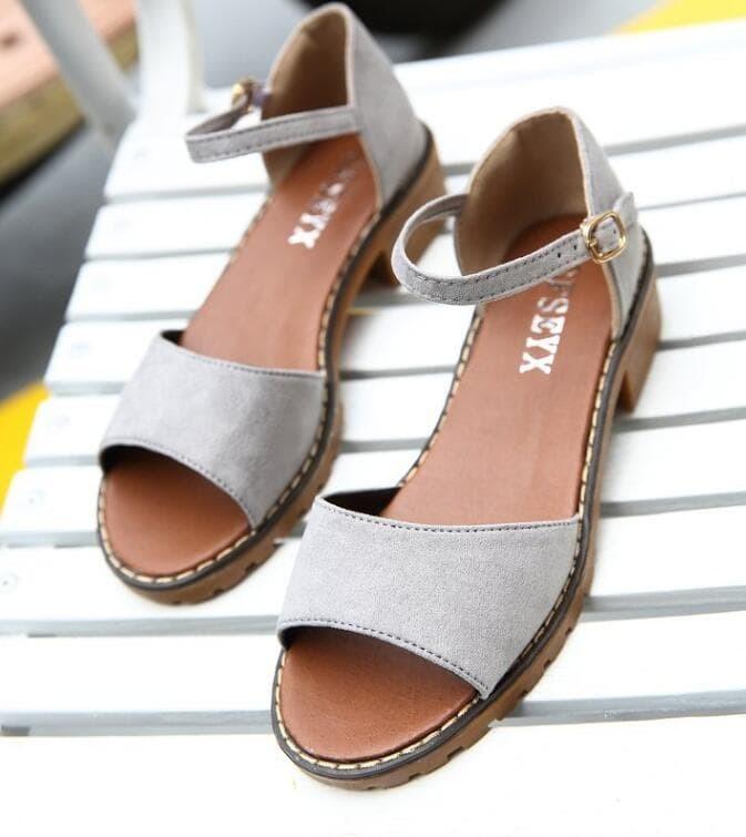Jual Sepatu Import L2 M32 Sandal Tali Sandal Santai Sandal Wanita