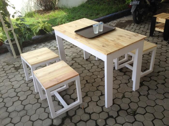 Jual Meja Kursi Makan Set Cafe Resto Dari Kayu Jati Belanda Kota Surabaya Furnideal Tokopedia