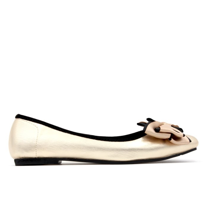 Yongki komaladi abigail flat shoes - l.gold - emas 39