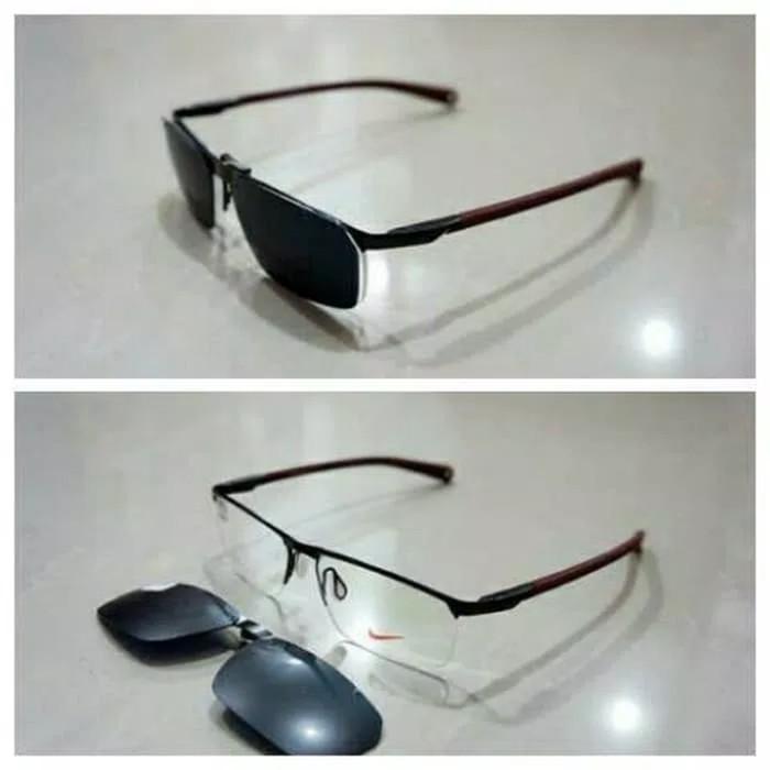 Frame kacamata nike clip on free lensa minus antiradiasi f5e505a7c1
