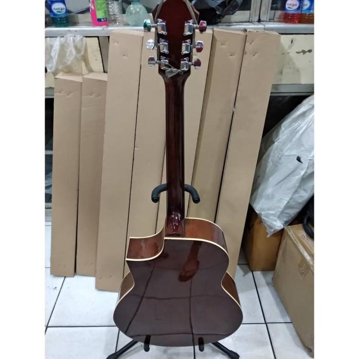 Gitar Akustik Merk Ibanez Natural Murah Jakarta Bonus Softcase Dan Pic
