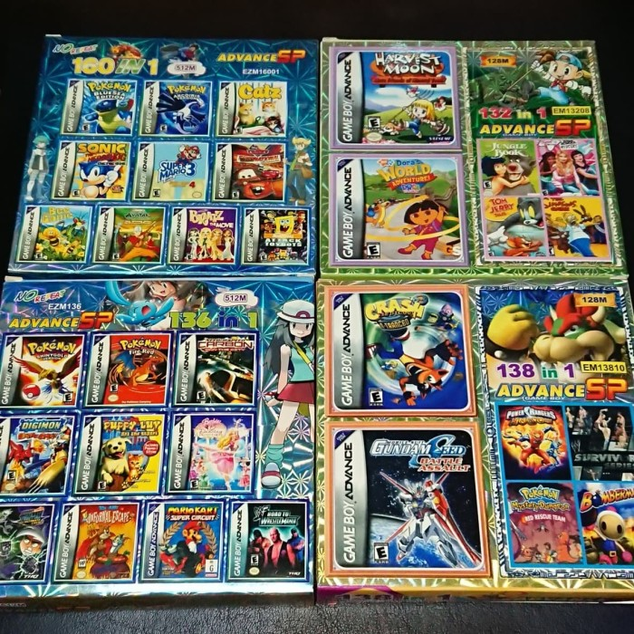 harga Nintendo gameboy advance sp game multi kaset games nes snes gbc gba Tokopedia.com