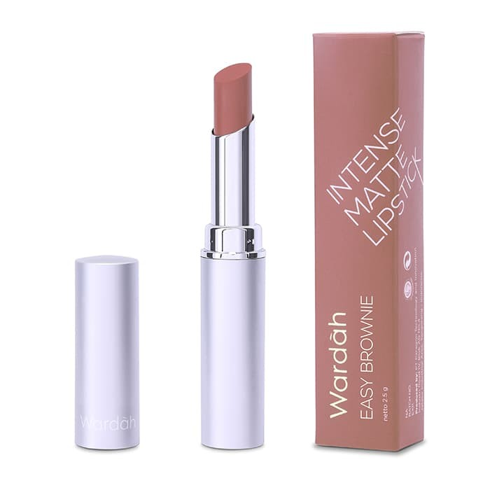 Lipstik Matte Wardah Intense Matte Lipstick Nomer 05 Easy Brownie