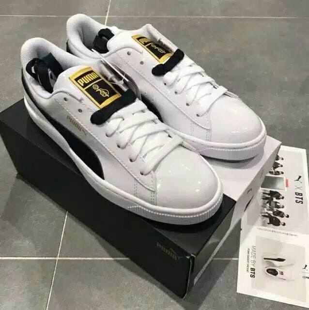 check out 0cde1 d51ca Jual PUMA x BTS Basket Patent Sneakers Shoes (+ free random gift) - Kota  Bandung - Flowerblossom_id | Tokopedia