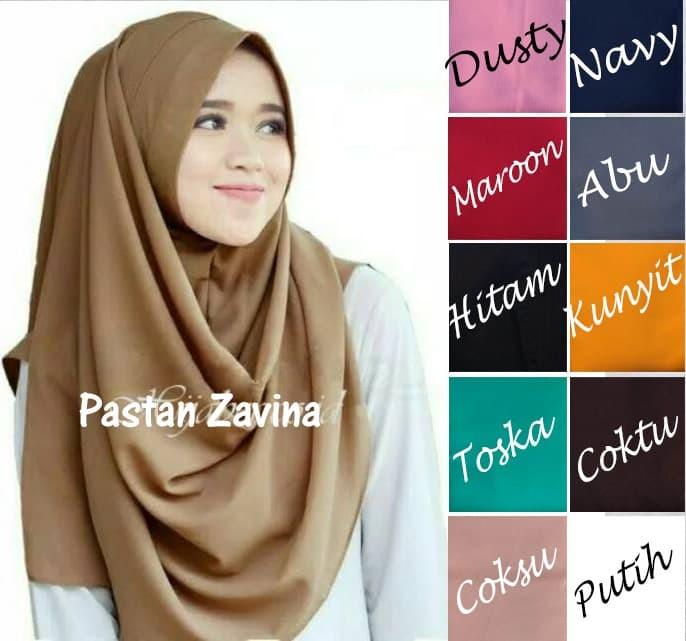 Instan Zafina [PROMO] Hijab / Jilbab Pashmina Grosir, Kerudung Terbaru - Navy