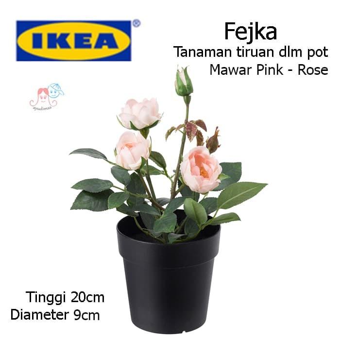 Jual IKEA Fejka - Tanaman pot plastik   palsu   Tiruan   bunga mawar ... 00264c9a32