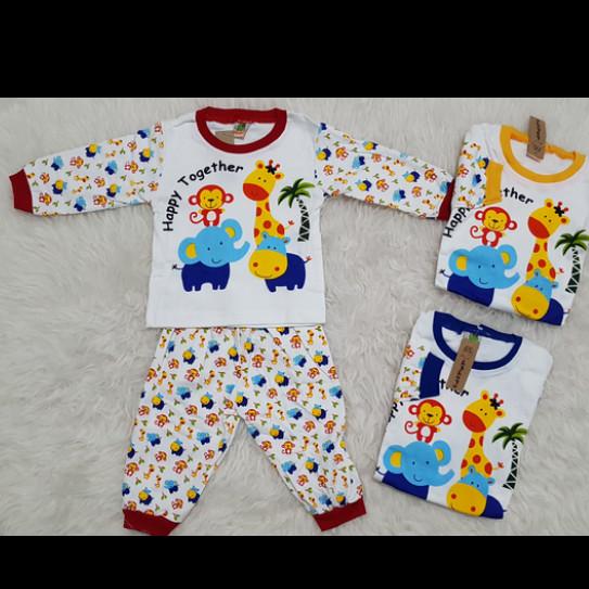 Setelan Kaos Anak Bayi Binatang / Kaos Bayi / Baju Tidur Piyama Bayi