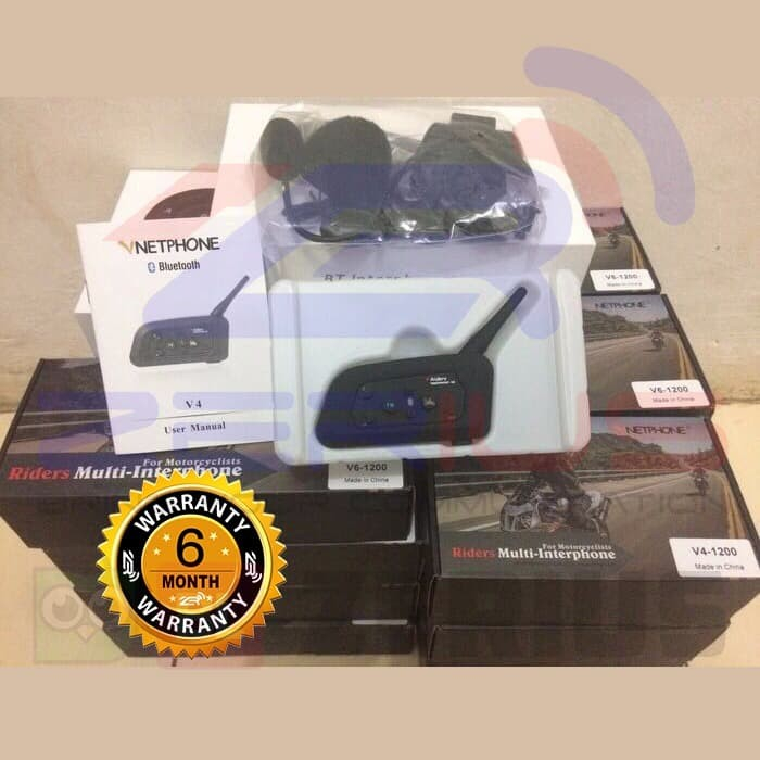 harga Bluetooth intercom v4 vnetphone for helmet + fm radio Tokopedia.com