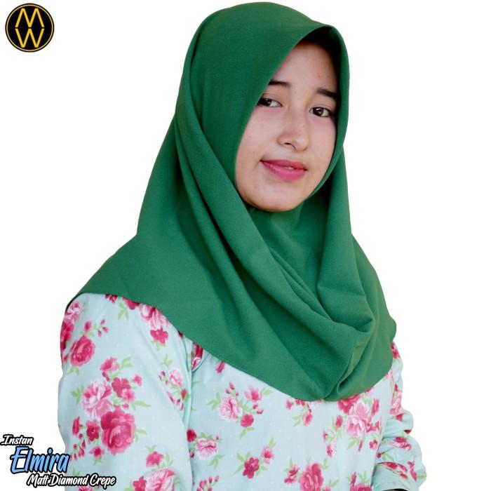 Harga Promo Instan Diamond Crepe Jilbab Polos Segiempat Segiempat