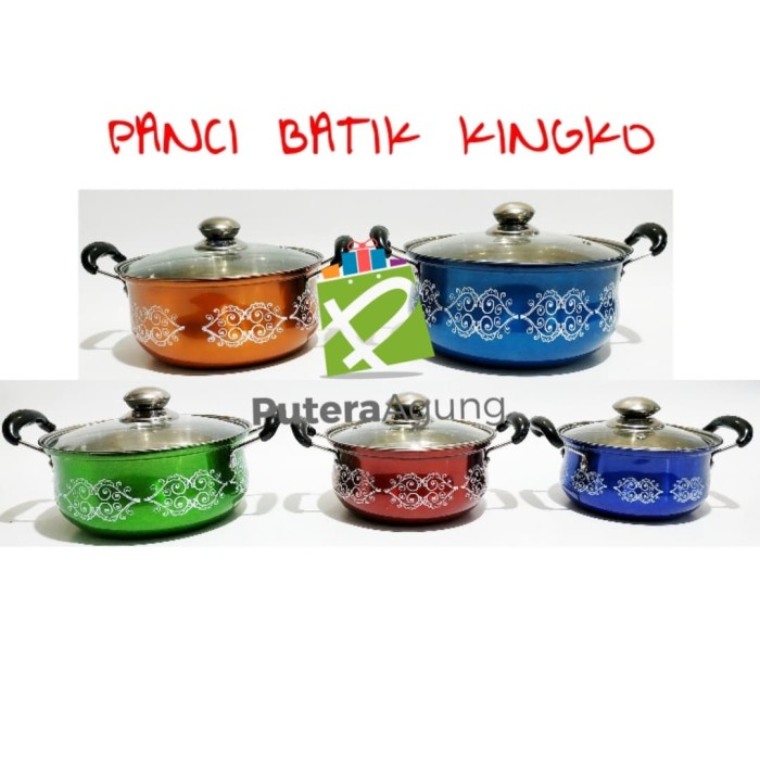 harga Panci batik warna warni 5 set stainless tutup kaca rui xing kingko 555 Tokopedia.com