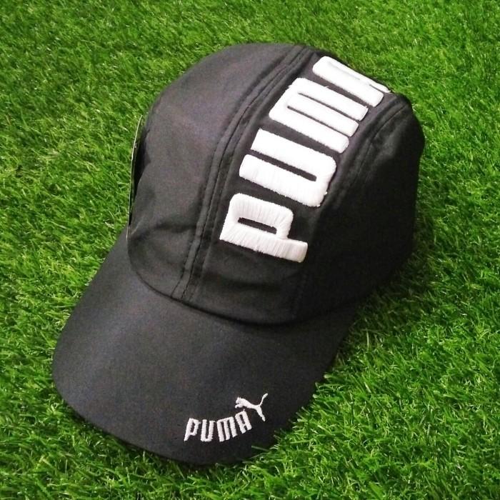 ... harga Topi running   topi sporty puma unisex hitam bordir putih  Tokopedia.com 098f84b76c