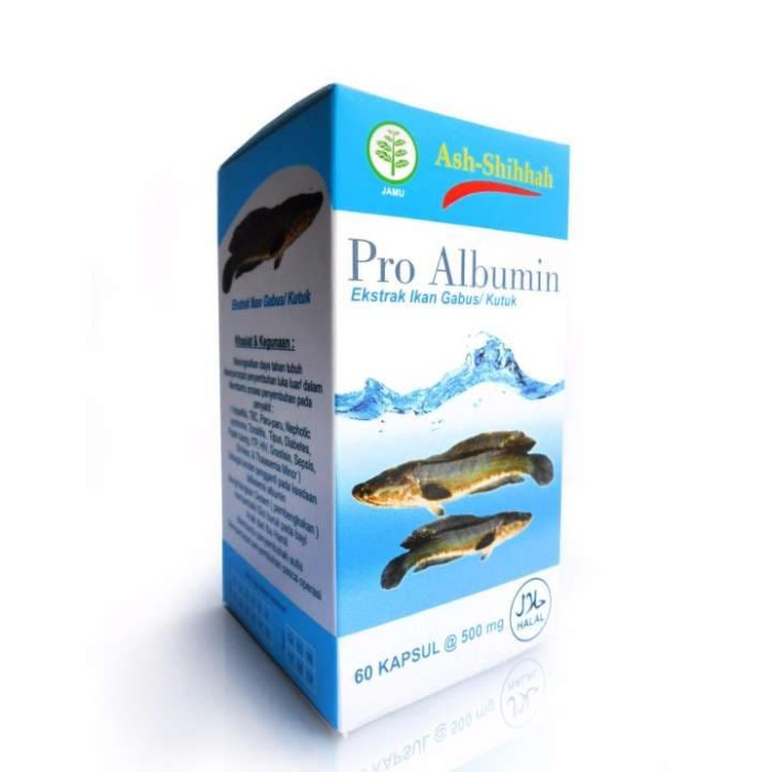 Pro Albumin (Ekstrak Ikan Gabus/Kutuk) - Ash Shihah - isi 60 Kapsul