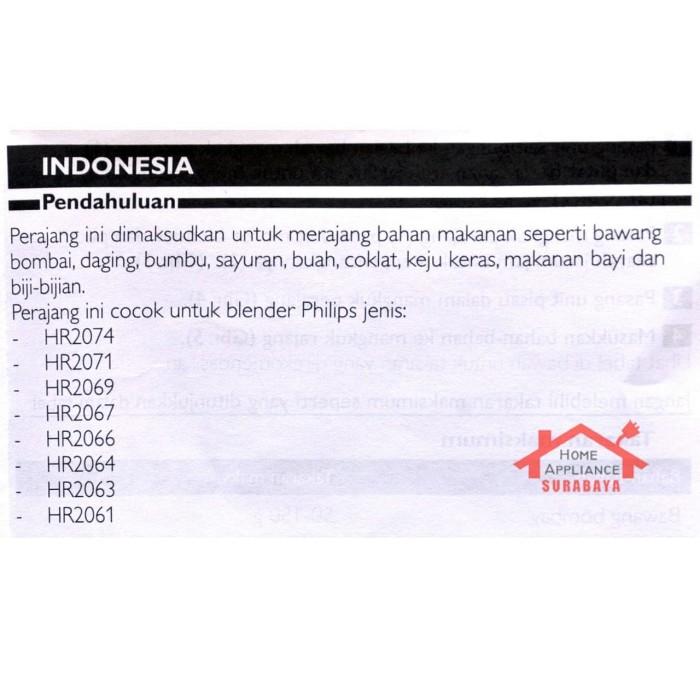 Chopper Blender Philips Penggiling Daging Pencacah HR 2939 / HR-2939