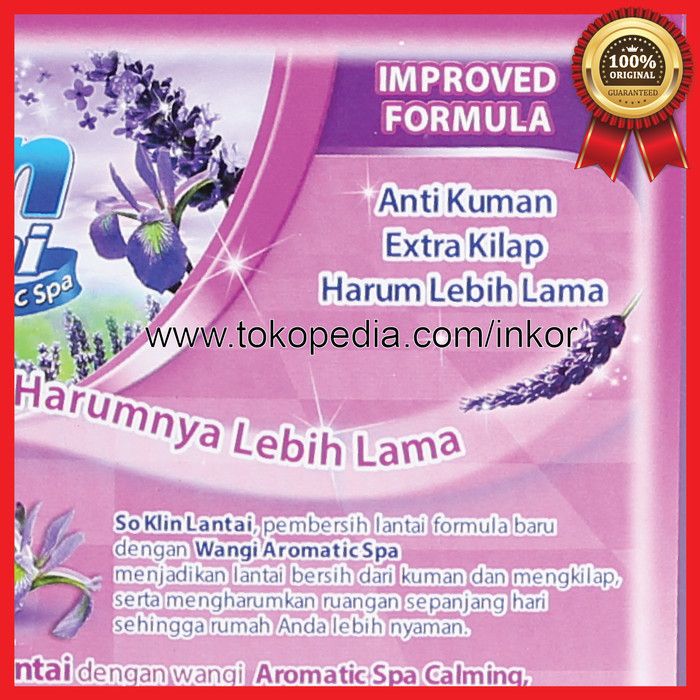 SO KLIN LANTAI AROMATIC SPA LAVENDER JERIGEN 4L