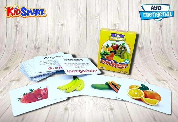 harga Delia flash card kartu pintar - ayo mengenal buah-buahan Tokopedia.com