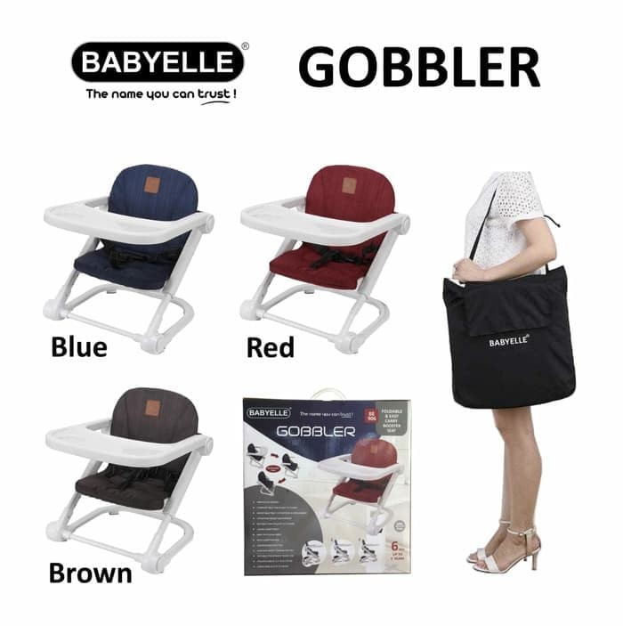 d0b836f0bc44 Jual BabyElle BE906 Foldable   Easy Carry Booster Seat Gobbler ...
