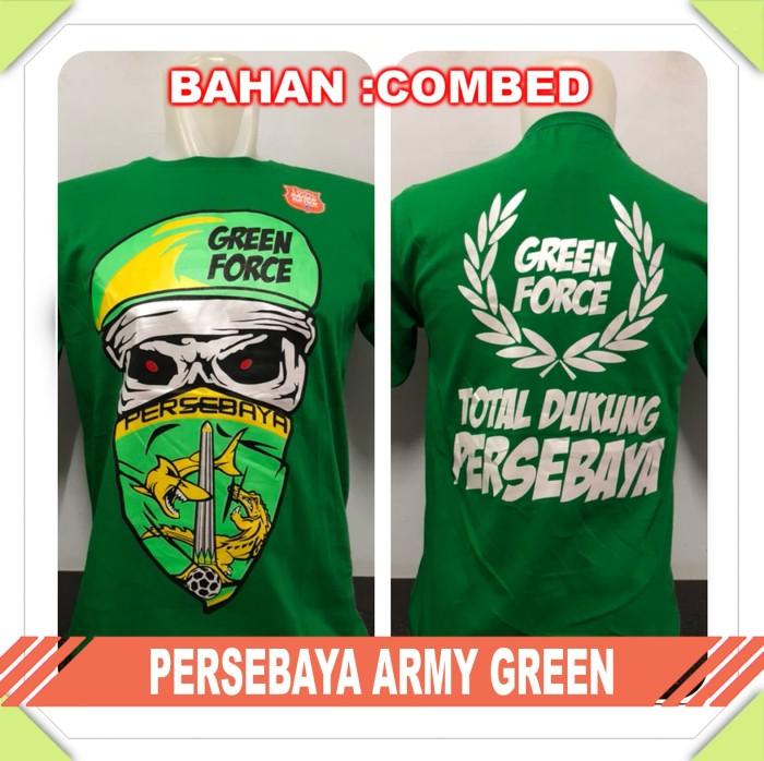 harga Kaos baju bola club indo persebaya army green Tokopedia.com
