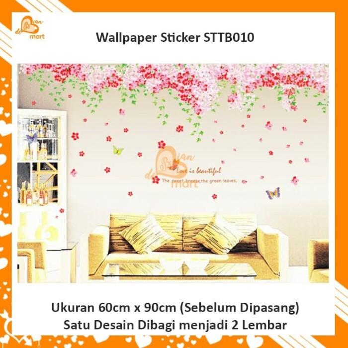 Jual Wallpaper Dinding Wall Sticker Besar Motif Bunga Sakura Gugur