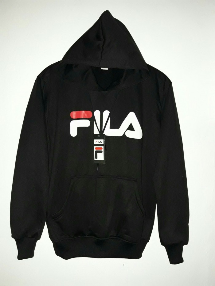 Jual jaket fila black - sweater black fila hoodie distro fila ... d24e12149a