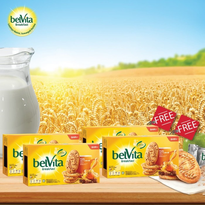 Buy 2 get 2 free - belvita honey & choco 80 gr