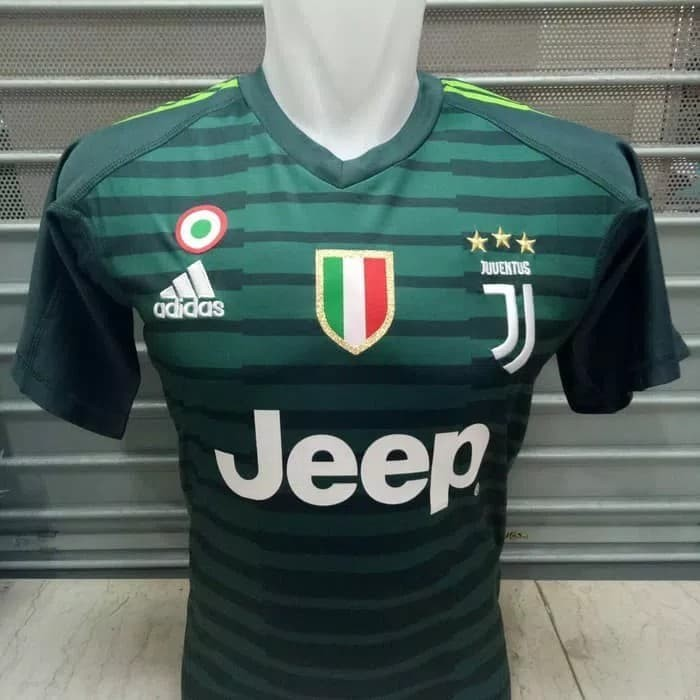 4b33b198d3d Jersey Kaos Baju Bola Juve Juventus GK Home Kiper 2018 2019 Grade Ori -  Hijau
