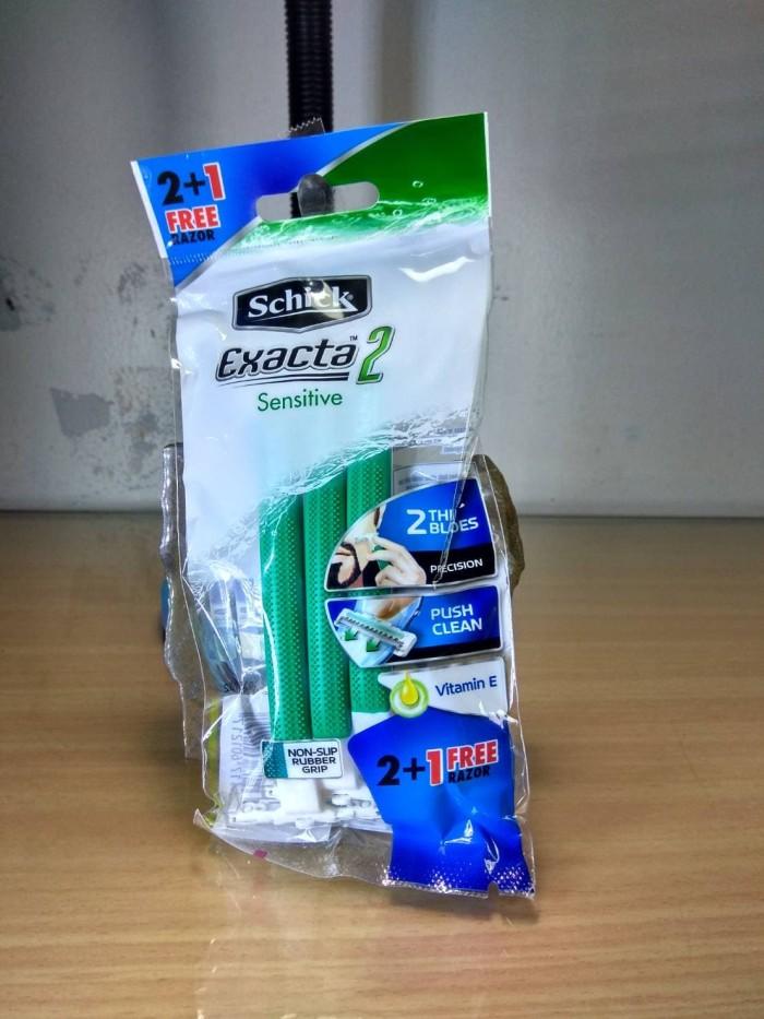 Jual Alat cukur Schick exacta 2 sensitive ( isi 2+1) - ZSM Hardware ... 283925a721