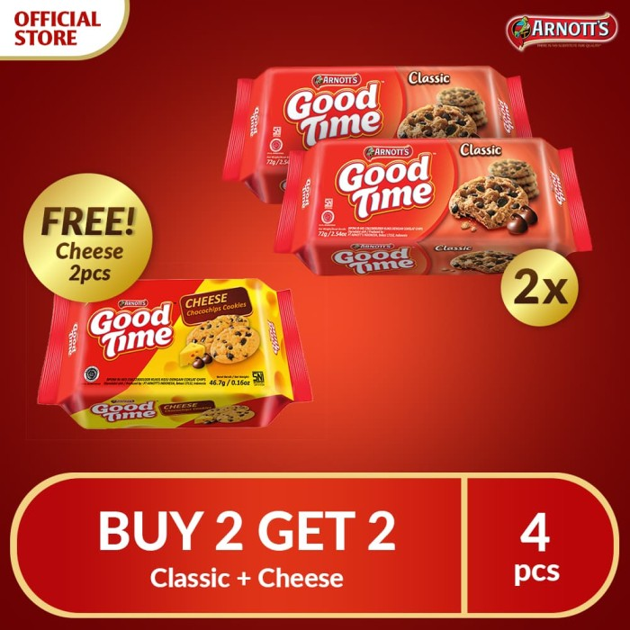 harga Buy 2 get 2 free good time classic + good time cheese - fs Tokopedia.com