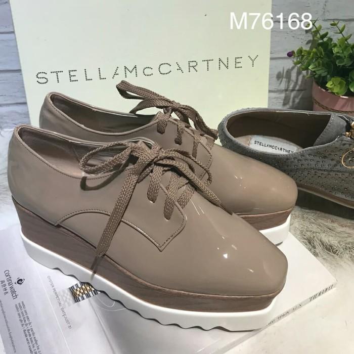 harga Sepatu stella mccartney premium glossy oxford platform wedges import Tokopedia.com