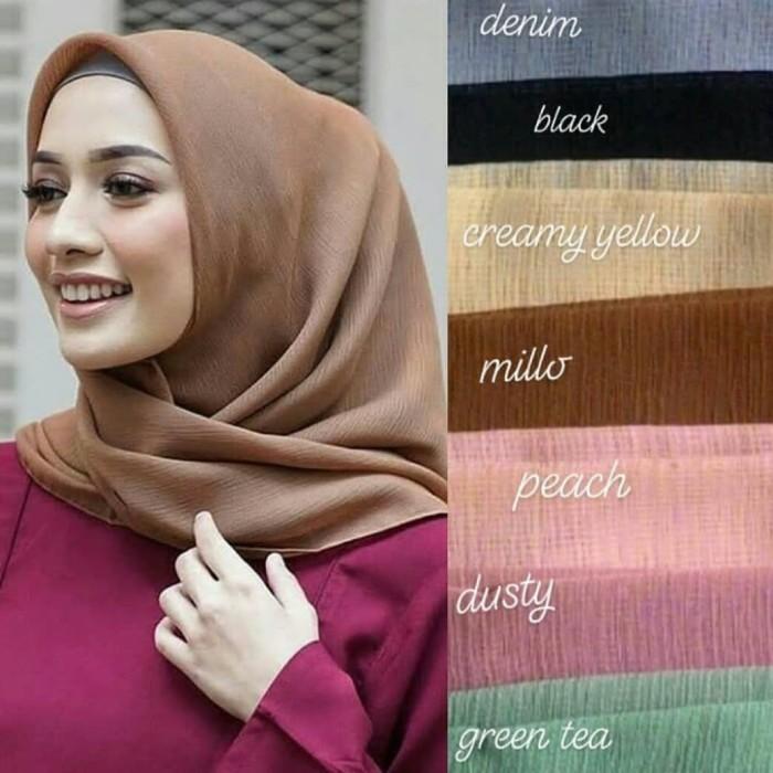 Jual Krudung Jilbab Terbaru Segi Empat Bahan Cornskin Harga Grosir