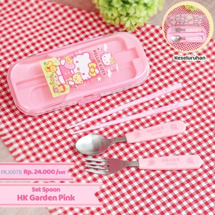 Set sendok makan anak karakter terdiri dari sendok garpu sumpit