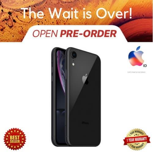 harga [TERBARU] IPHONE XR 64GB 64 GB BLACK GARANSI INTERNATIONAL APPLE - Hitam Tokopedia.com