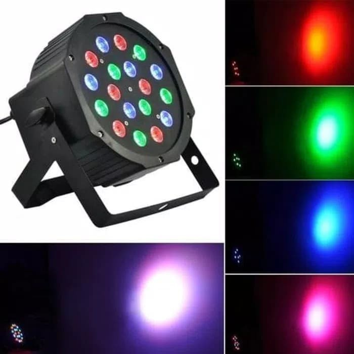 harga Lampu sorot panggung / par disco led rgb 18 mata Tokopedia.com