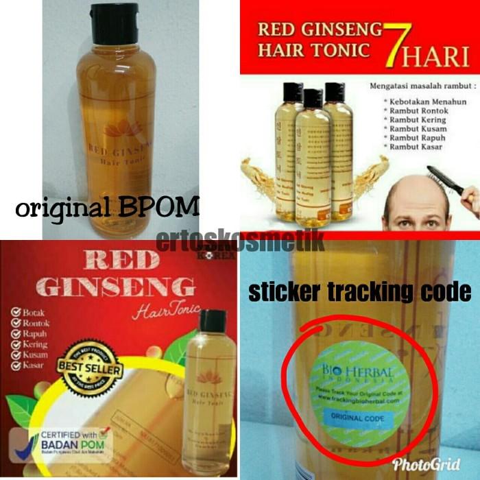 RED GINSENG HAIR TONIC PENYUBUR RAMBUT BPOM ORIGINAL