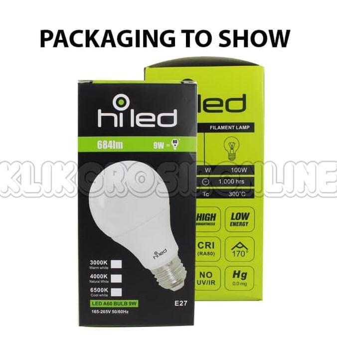 lampu bohlam LED HiLed 9 Watt BULB Natural White FL128909 - WARM WHITE