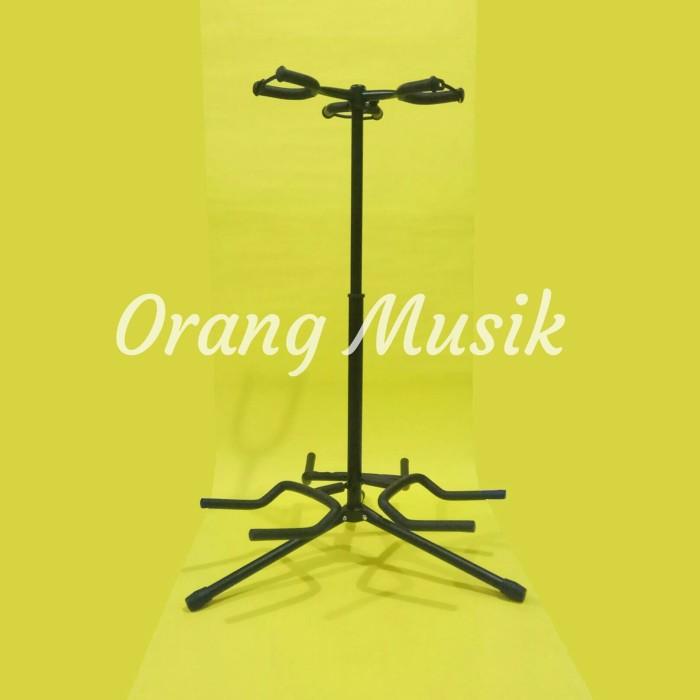 harga Stand gitar triple pn - stand gitar elektrik bass elektrik dan akustik Tokopedia.com