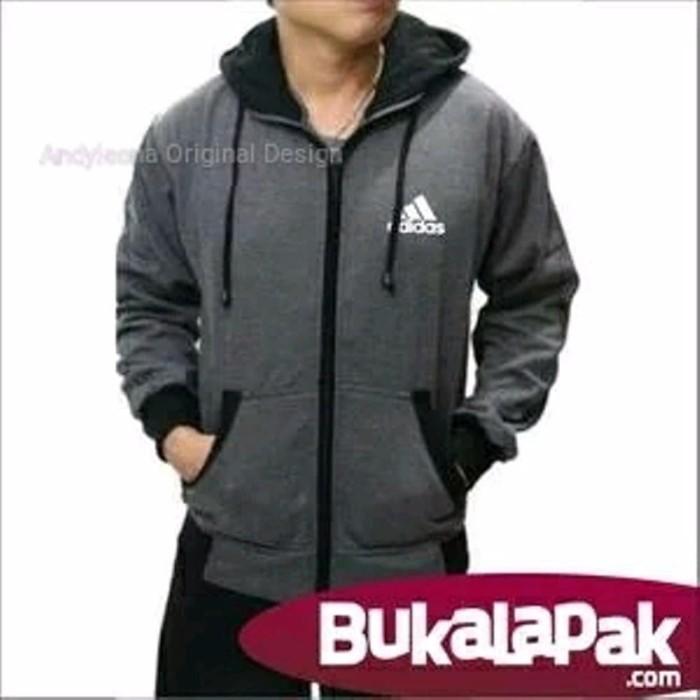Jual Berkualitas Jaket Zipper Adidas Model Terbaru Big Size Jumbo ... a4f716dd65