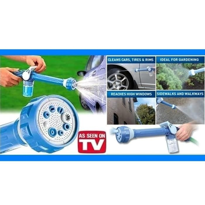 Ez Jet Water Cannon 8 In 1 Turbo Water Spray / Penyemprot Air - Biru