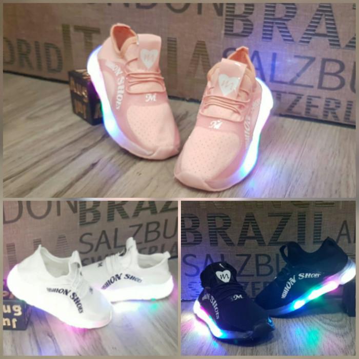 Jual Sepatu Anak Lampu Led Sz 27 31 Sepatu Sekolah Anak Cowok
