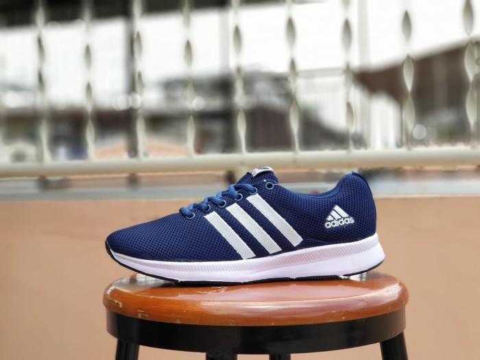 harga Sepatu running adidas zoom navy premium / casual gym sport pria Tokopedia.com