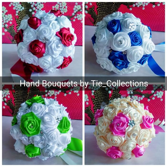 Jual Buket Bunga Pengantin Pernikahan Wedding Hand Bouquet Pita Satin Jakarta Timur Tie Collection Tokopedia