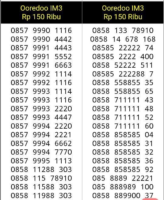 Indosat Im 3 Nomor Cantik 0857 70 717171 Daftar Harga Terbaru dan Source · Nomor Cantik