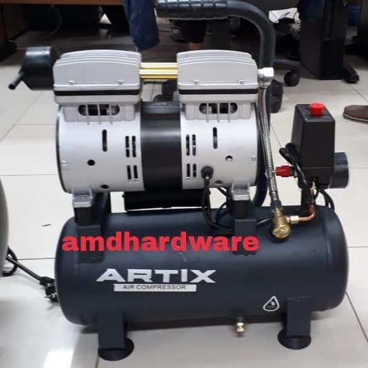 harga Mesin compressor oilless/kompresor oilless angin 3/4 hp 9 liter artix Tokopedia.com