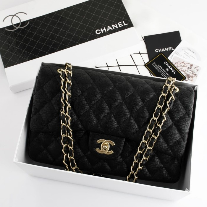 94a33c5c90a1 Jual CHANEL MAXI FLAP GHW CAVIAR WITH BOX EV9601 - dhaffy collection ...