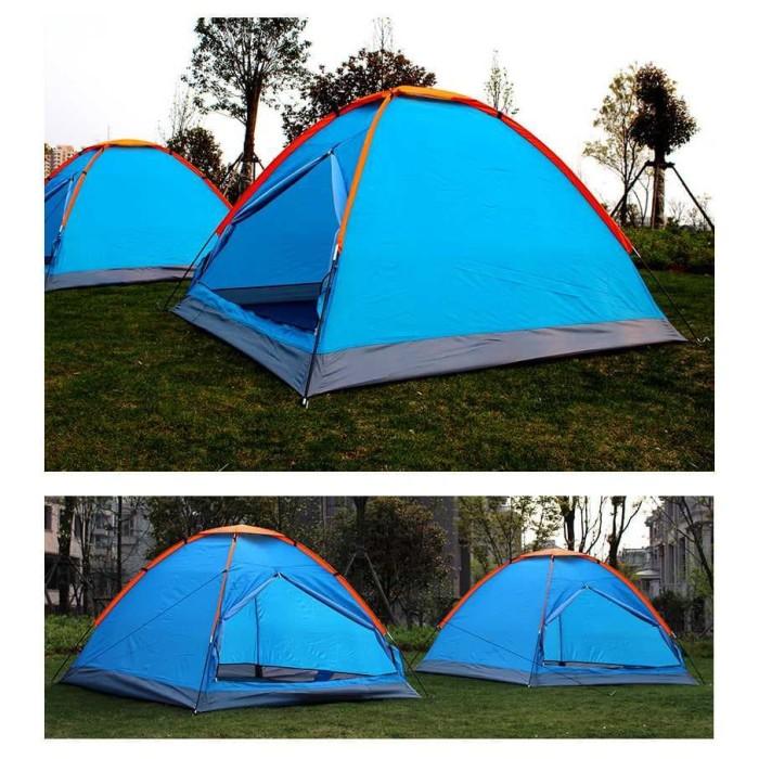 Tenda Camping Anti Panas UV Outdoor 3-4 Orang