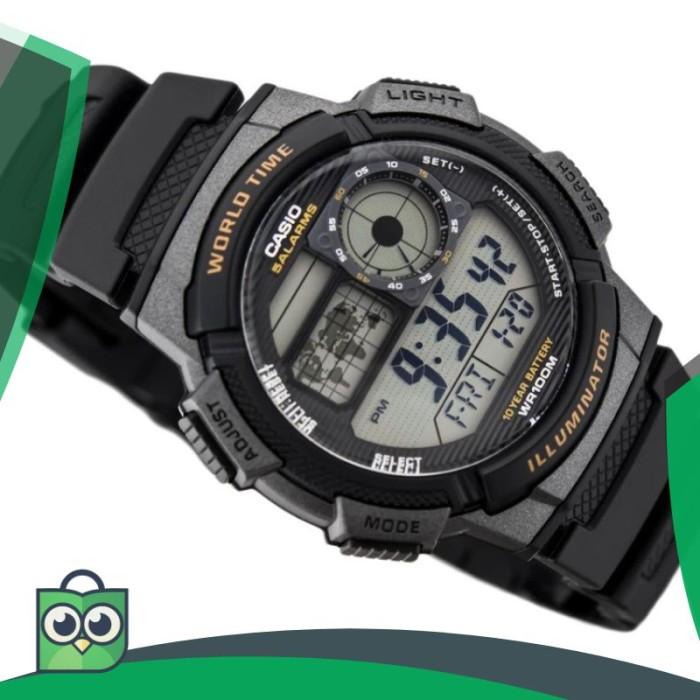 Casio Original AE-1000W-1A Jam Tangan Pria - Digital - Karet - Hitam