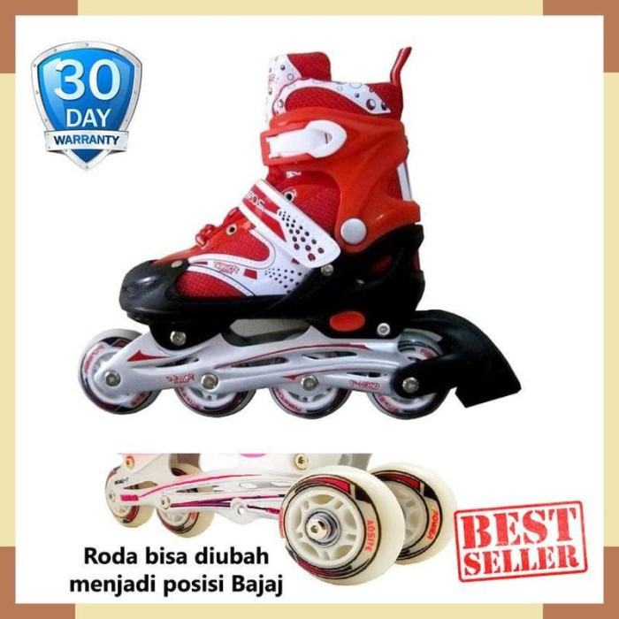Power Sport In Line Skate Sepatu Roda 2 In 1 Adjustable Wheel M 34 ... 0dc15c9b21